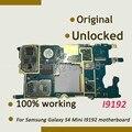 100% original de la placa madre de trabajo para samsung galaxy s4 mini i9192 placa lógica placa base con fichas completas