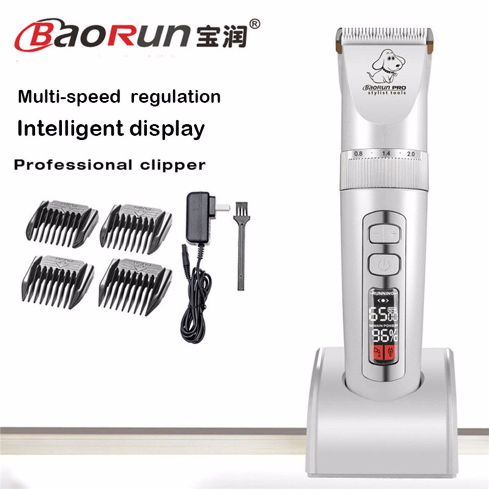 110V 240V BaoRun P9 Pet Cat Dog Trimmer 2000mAh Electric Rechargeable Grooming Clipper Remover Cutter Shaver