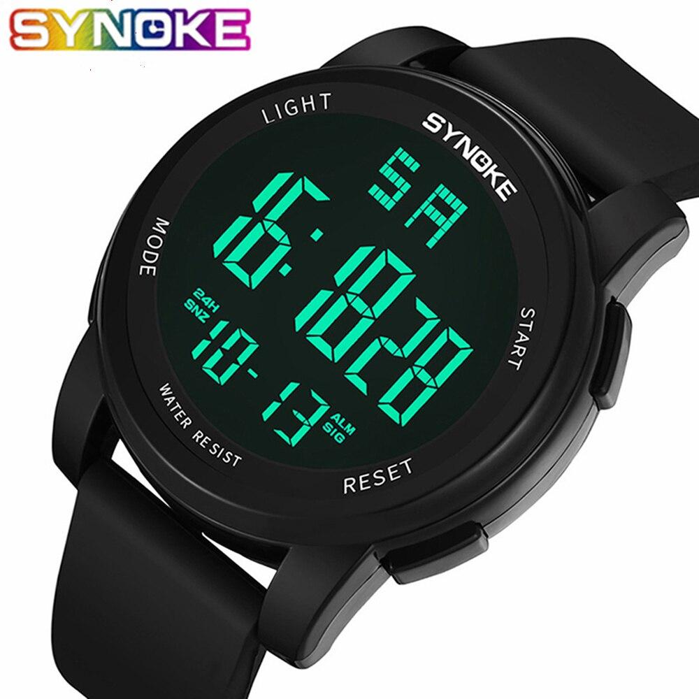 SYNOKE Men Digital Watches Luxury Brand LED Waterproof Digital Fashion Sport Watch Military Sport Men's Male Watches Alarm Clock