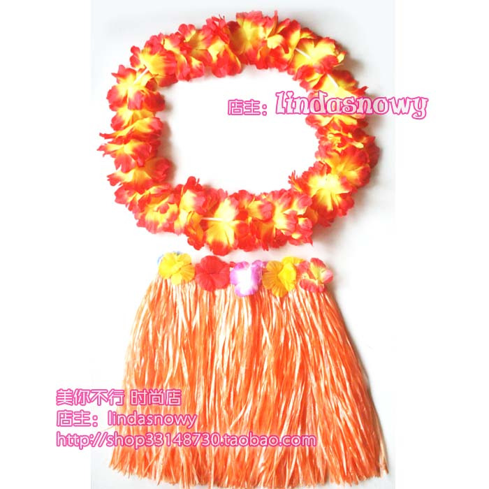 Props photography props hawaii hula skirt garishness 40 hula skirt orange