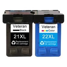 Ветеран пополнения 21XL 22XL чернильный картридж Замена для hp 21 22 xl hp 21 hp 22 принтеров серий Deskjet F2180 F2280 F4180 F380 380 F300 принтер