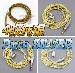 LN005947  Extremely Soft 7N OCC Pure Silver + Gold Plated Earphone Cable For Shure se535 se846 se425 se215 MMCX