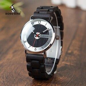 Image 1 - Bobo pássaro relógios de madeira dos homens relógios moda pulseira de madeira relógio de quartzo presentes ideais artigos com * q23 transporte da gota