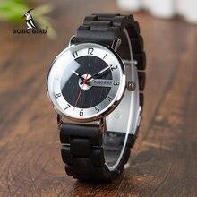 ボボ鳥の木製腕時計男性時計ファッション木材ストラップクォーツ時計理想的なギフトアイテムワット * Q23 ドロップ無料