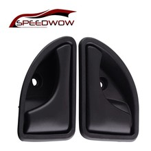 SPEEDWOW Black Grey Left Right Car Interior Door Handle Inside Inner Knob For Renault Clio Scenic 1999-2005 Megane 98-2002