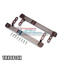 TRAXXAS TRX 4 TRX4 82056 4 Aluminum Alloy Side Steps Footboard Glittering Reticular Style Adjustable Set