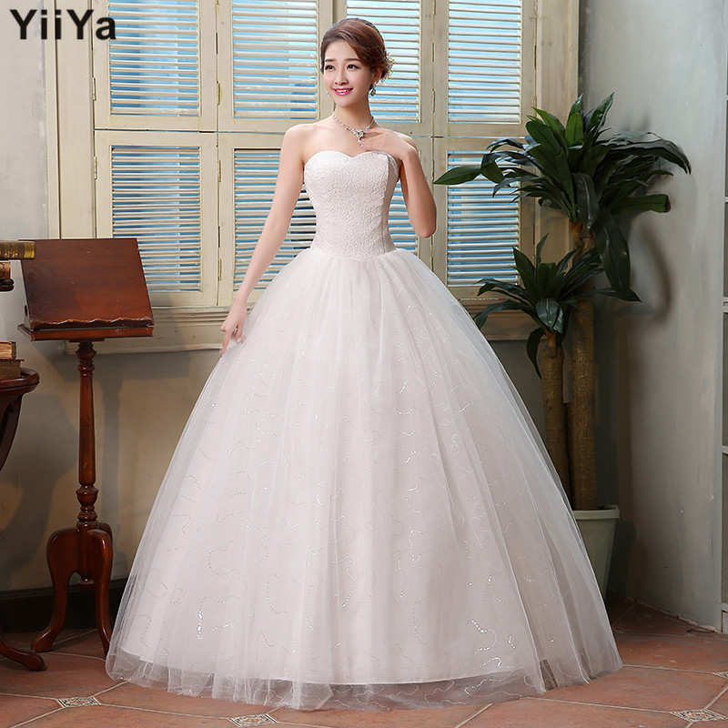 Latest Wedding Gowns 2015: Free Shipping 2015 New Cheap Wedding Gown White Lace