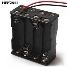 מקרה מחזיק סוללה 8 x AAA 12 V 1 יחידות צד כפול אביב מחזיק סוללה עם חוט מוליך בחזרה על ידי חזרה פלסטיק תיבת סוללה AAA