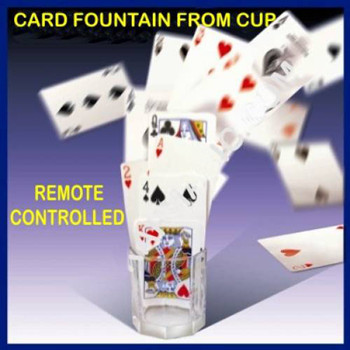 Card Fountain From Glass Cup Remote Control Magic Tricks Find Select Card Magie Stage Illusions Gimmick Props Mentalism Comedy
