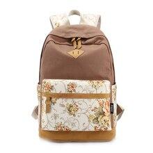 Floral Rucksack Schultasche für Teenager Mädchen Laptop Tasche Druck Rucksack weiblichen Rucksack Khaki