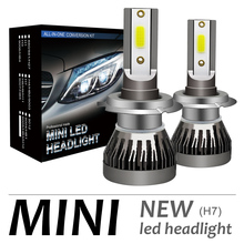 2pcs H7 72W 12000LM 6000K LED Mini Car Headlight Kit Automobile Fog Lamp Hi or Lo Light Bulbs for Cars Vehicle Auto