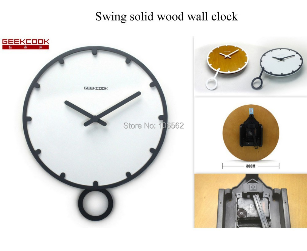 Antique geekcook home decoration living room swing solid wood antique geekcook home decoration living room swing solid wood pendulum wall clock modern design relogio de parede vintage in wall clocks from home garden amipublicfo Choice Image