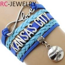 Infinity Love Kcroyals Sports Team Bracelet Yellow Blue Wristband Customize Friendship Bracelets