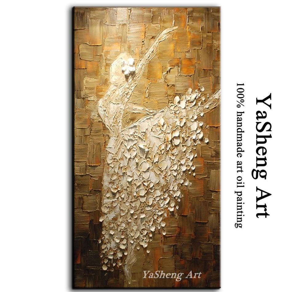 100 hand gemaakt olieverfschilderij ballet abstracte art schilderij moderne thuis villa hotel - Gang schilderij ...