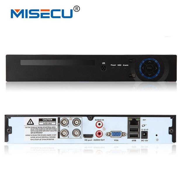 US $99 8 |MISECU 4CH Full HD1080P AHD H CCTV DVR Recorder 3 in 1 for AHD  camera analog camera P2P NVR cctv system DVR H 264 VGA HDMI-in Surveillance