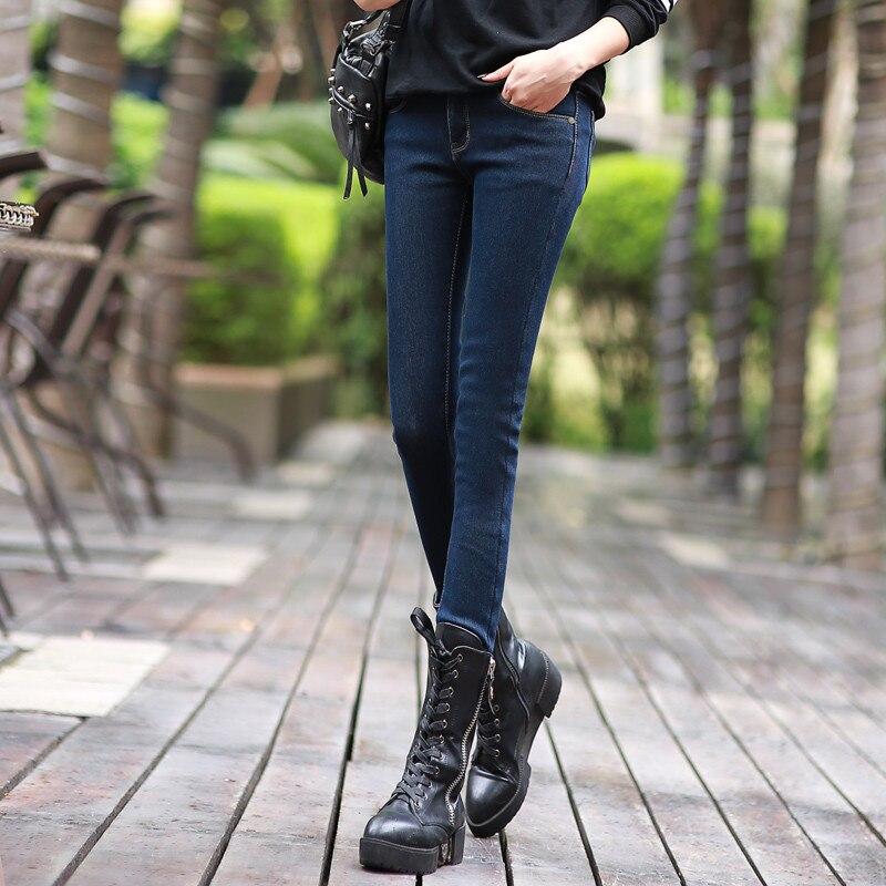 Plus Velvet Thicker Women Jeans Warm High Waist Trousers Cowboy Pants Stretch Denim Jeans Pants Winter Pencil Jeans C1495 1