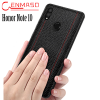 Vintage Genuine Leather Case Huawei Honor Note 10 Case Back Cover Fashion Business Capa Honor Note 10 Full Protection Funda
