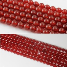 Baihande Natural Red 64 Facet Agate Onyx Stone 4 6 8 10 12mm Round Gemstone Loose Beads For Necklace Bracelet DIY Jewelry Making xinyao jewelry 40 4 6 810 12 14 diy f364 red agate beads