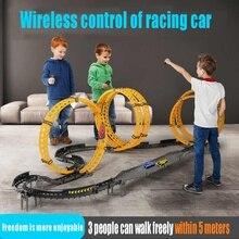 LBLA RC Toy Race Track DIY Remote Control Kids Car