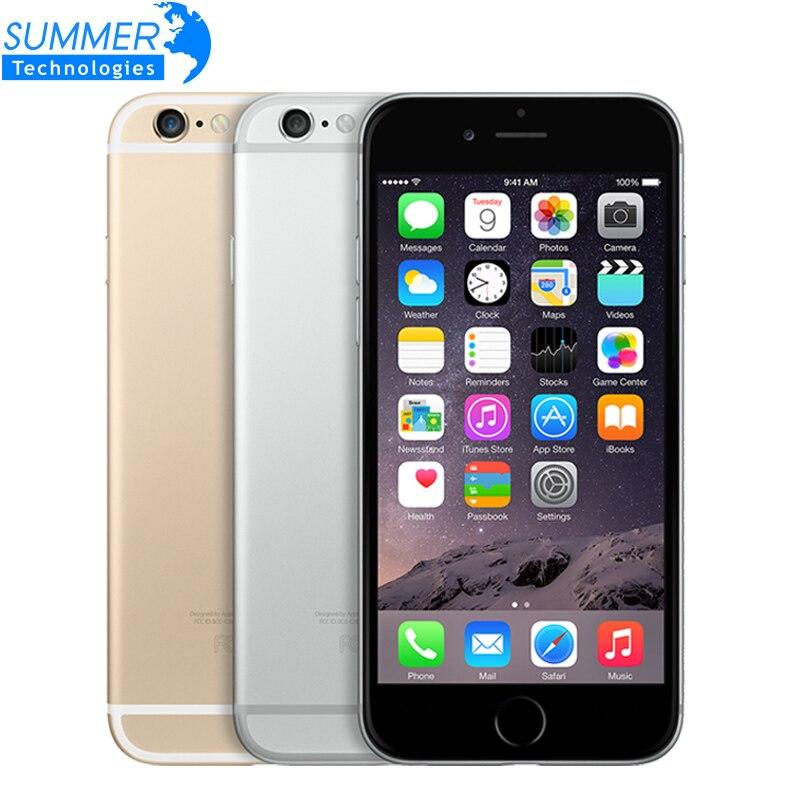 Original Unlocked Apple iPhone 6 IOS Mobile Phone 1GB RAM 16G 64G 128G ROM GSM WCDMA LTE Fingerprint Used Cell Phone