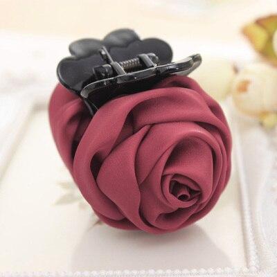 Розовые цветы черные пластиковые зубы заколки для волос изысканный элегантный головной убор для женщин девушек аксессуары для волос - Цвет: 9098