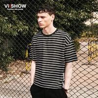 VIISHOW Summer Men Black And White T Shirt Men Casual Tee Shirt Men Short Sleeve T