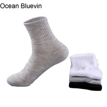 5 Pairs / Lot Hot Sale New Men's Socks Quality Business Casual Style Soft Comfortable Breathable Spring Summer Autumn Sock Meias(China)