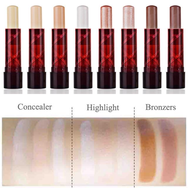 Professional Ladies Makeup Face Blush Contour Highlighter Stick Foundation Make Up Bronzer Base Concealer Pencil Maquiagem 1