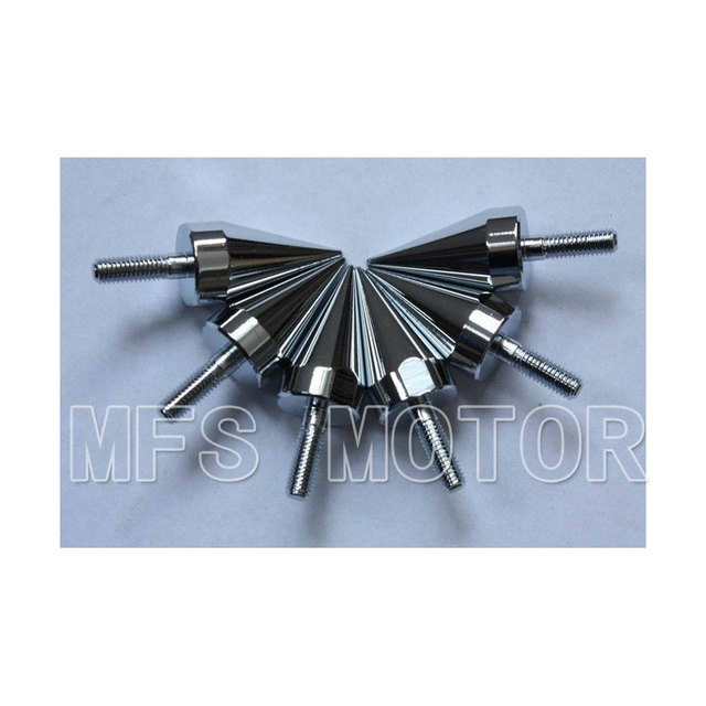 High quality Motorcycle accessories parts Universal Chrome Spike Bolts Windscreen Fairings License Plate