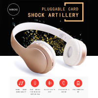 Bluetooth Headset Music Running Headset Wholesale Wireless 4 1 Folding Card Headset Mobile Phones Computer Active