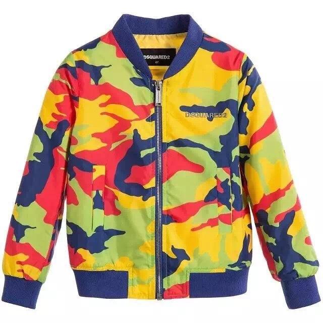 Nuevos 2016 Muchachos del bebé chaqueta de Camuflaje del uniforme del béisbol de abrigo al por mayor