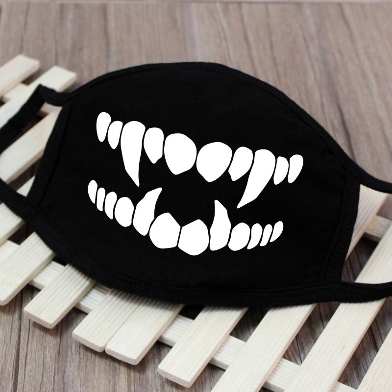 Image 5 - 1PC Cartoon Face Mask Funny Teeth Pattern Unisex Cute Anti 
