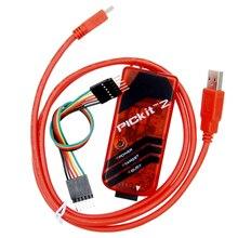 PICKIT2 PIC Kit2 จำลอง PICKit 2 โปรแกรมเมอร์ Emluator สีแดง w/สาย USB Dupond Wire