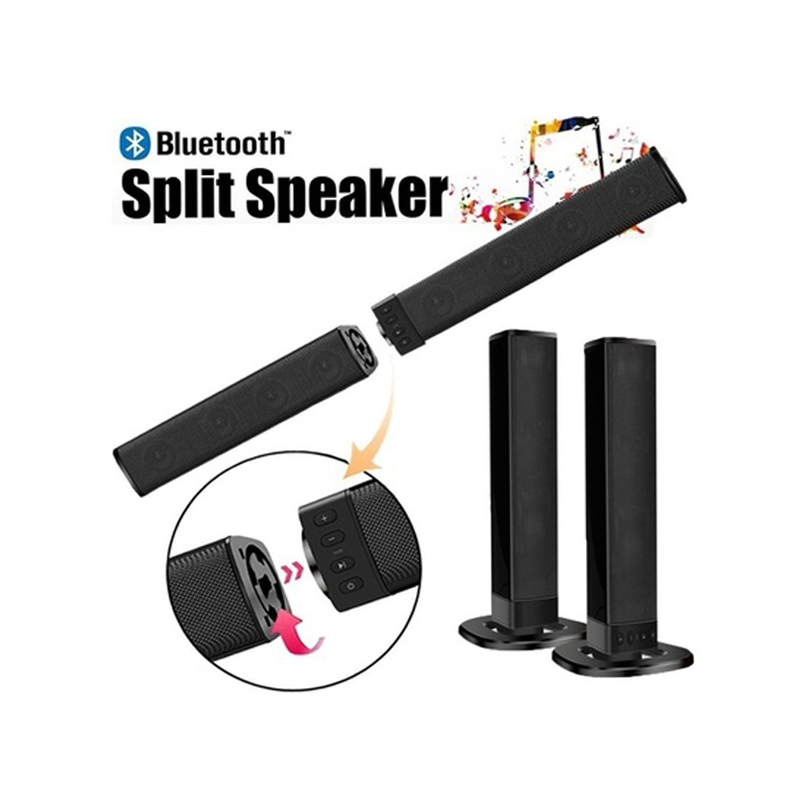 20W Bluetooth Speaker AUX Optic Speaker Bluetooth home theatre system TV Soundbar subwoofer Column Soundbar with Speaker for TV in Soundbar from Consumer Electronics