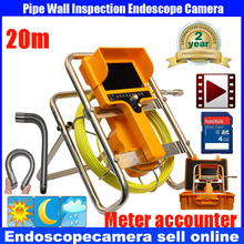 90 degree Sewer Waterproof Video Camera 7″LCD Screen Drain Pipe Inspection camera with DVR 30m cable with meter counter