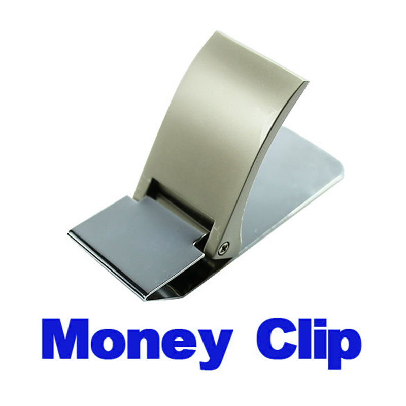 Wallet Slim Sided Stainless Steel Money Clip Card Credit Name Holder Wallets SSA-19ING