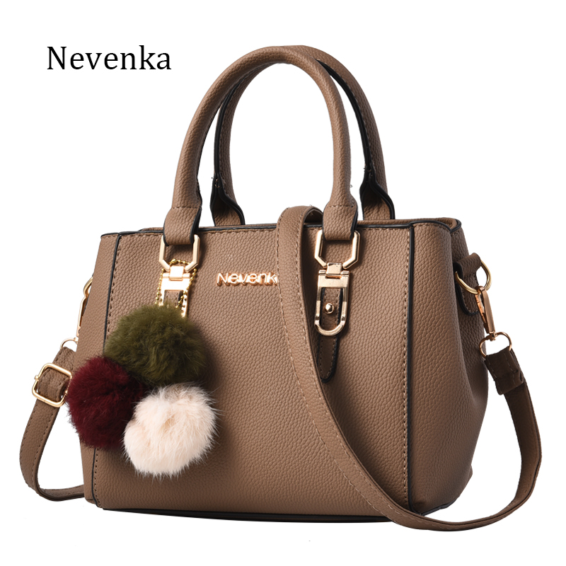 Nevenka Women Bag Pu Leather Tote Brand Name Bag Ladies Handbag Lady