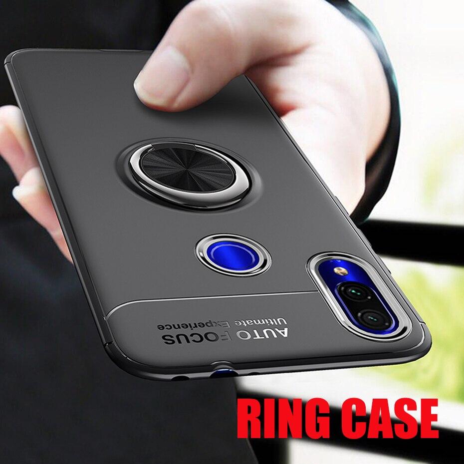 Luxe Magnetische Ring Stand Siliconen Case Voor Xiao mi rode Mi 6 6A note 7 5 pro volledige Cover Case voor Xiao mi mi 9 9 se A2 TELEFOON CASE