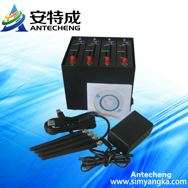 Wavecom Q2403 module with 4 ports gsm wavecom modem pool
