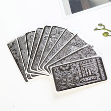 Hot 20 SALE Nail Art Stamping Large Image Plate / Plates with board Floral Design 12*6cm