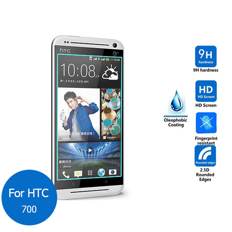 Tempered Glass For HTC Desire 700 D700 709d 7060 7080 7088 Dual Sim Screen Protector Toughened Protective Film Guard
