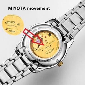 Image 2 - Продвижение MIYOTA T25 светящиеся тритиевые автоматические механические часы для мужчин с Двойной верх календаря Роскошные брендовые водонепроницаемые мужские часы reloj
