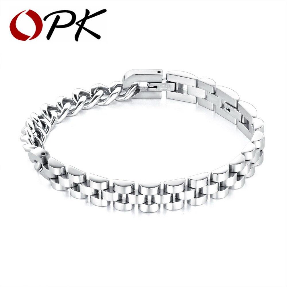 OPK Hiphop Chain Bracelet For Men 316L Stainless Steel Length ...