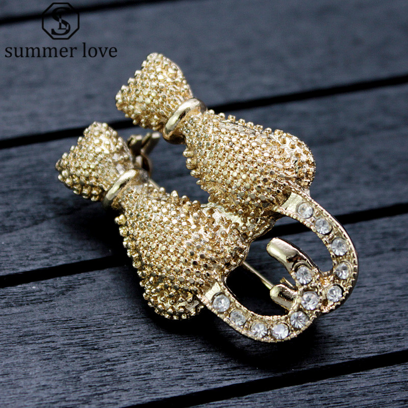 Gold-Color Cute Animal Cat Brooch Pins Rhinestone Women Brooch Pin Jewelry Collar Bijoux Suit Hats Clips Corsage Brooches