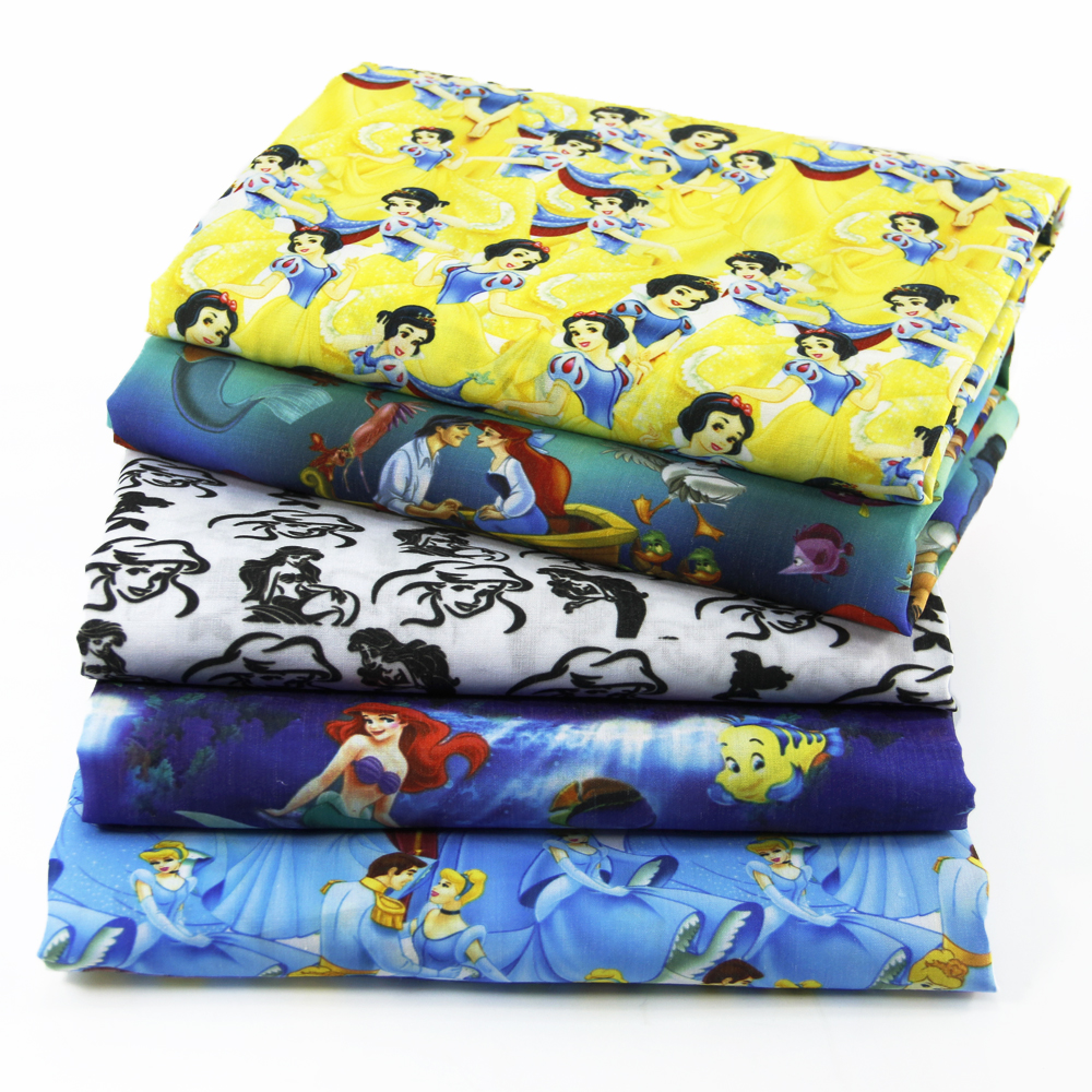 50*145CM patchwork printed Cartoon Polyester cotton fabric for Tissue Kids Bedding home textile for Sewing Tilda Doll,c458