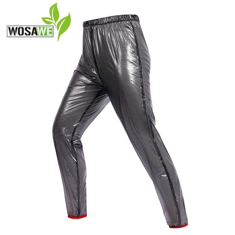 WOSAWE Rain cycling Pants 2018 Waterproof Windproof Men Womens Outdoor Sports Running Riding Cyling Tights ciclismo Pant men