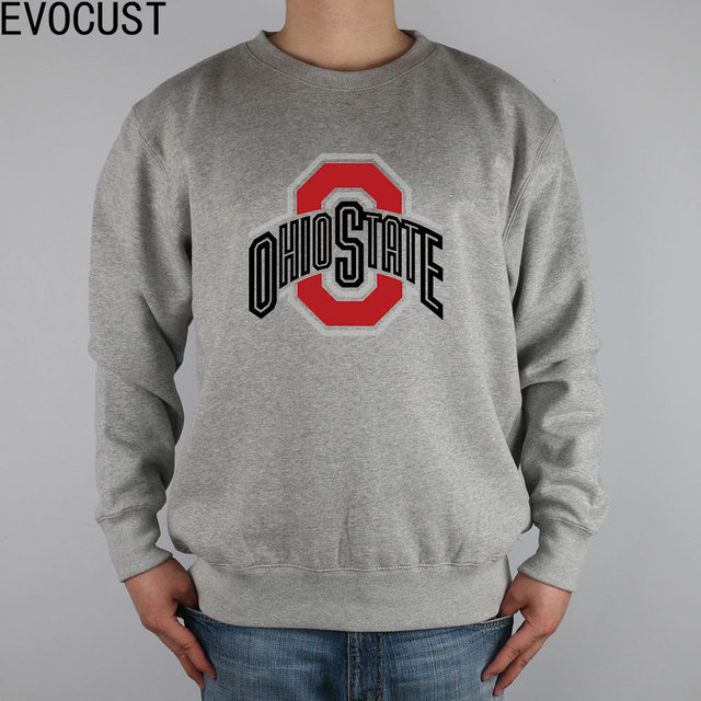 Newv Ohio State University Men Sweatshirts Thick Combed Cotton In