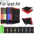 ГОРЯЧАЯ Прочный Премиум Броня Стенд Case для ipad 5 Покрытия принципиально Капа Para Coque, гибридный ТПУ + PC Задняя Крышка для IPAD air air1 case