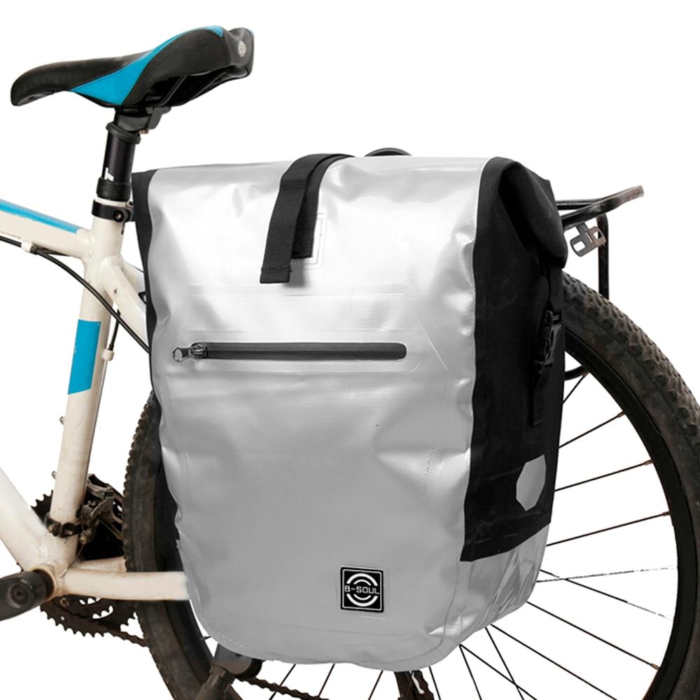 Lixada Bicycle Rear Seat Bag Multifunction Waterproof MTB Bicycle Pannier Bag UK