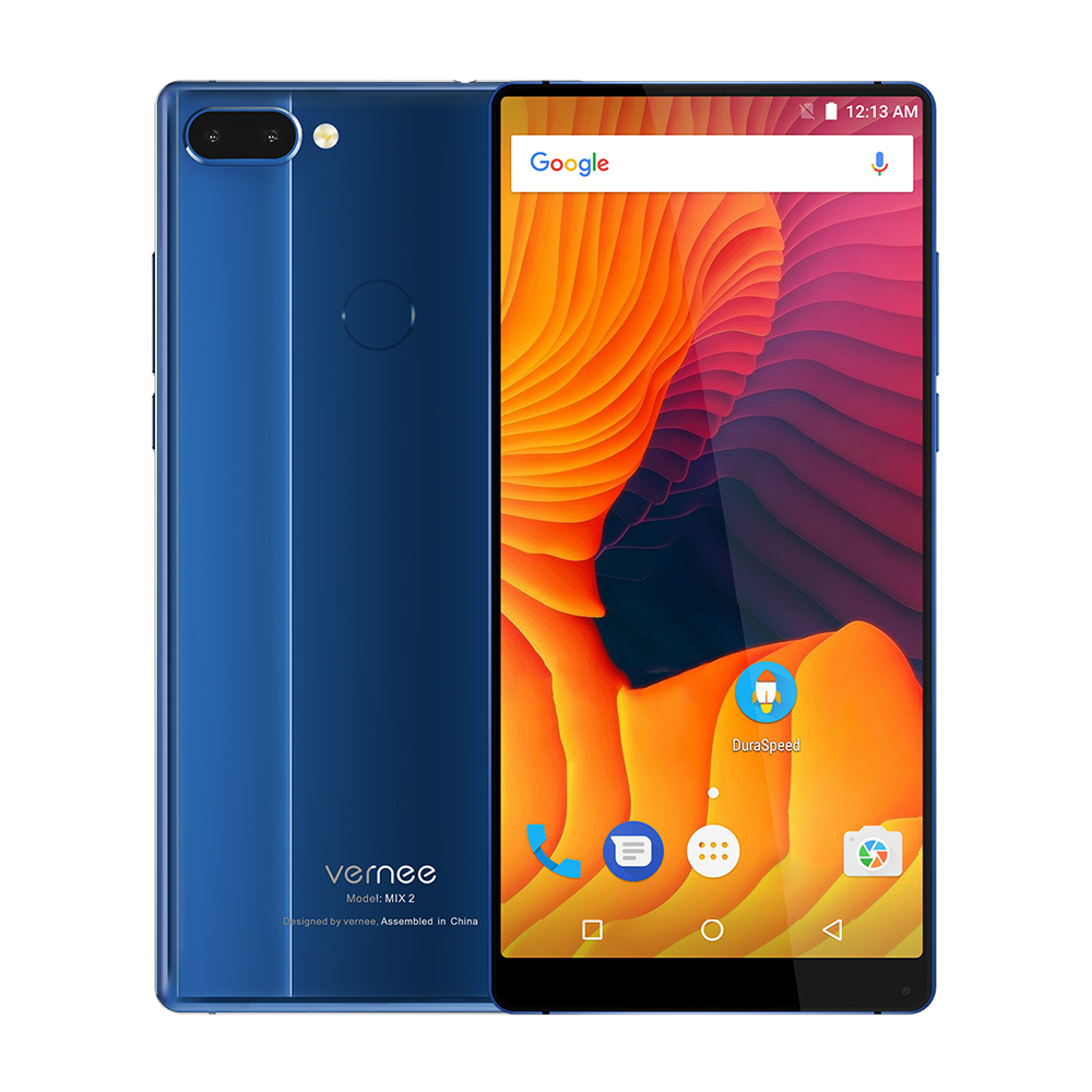 Vernee Mix 2 4g 6.0 pouce Android 7.0 Octa base 2.5 ghz 4 gb RAM 64 gb ROM 13.0MP + 5.0MP Double Arrière Caméras D'empreintes Digitales Scanner MIX2